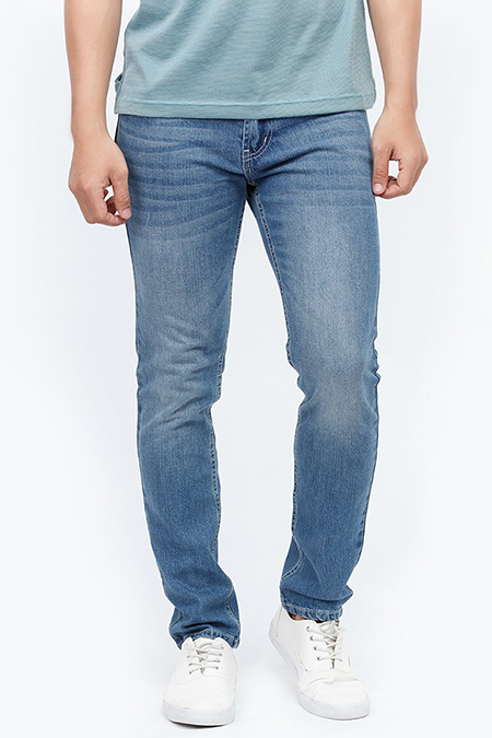 Quần Jeans nam Novelty 0Ply ống wash màu xanh Jeans 1701200